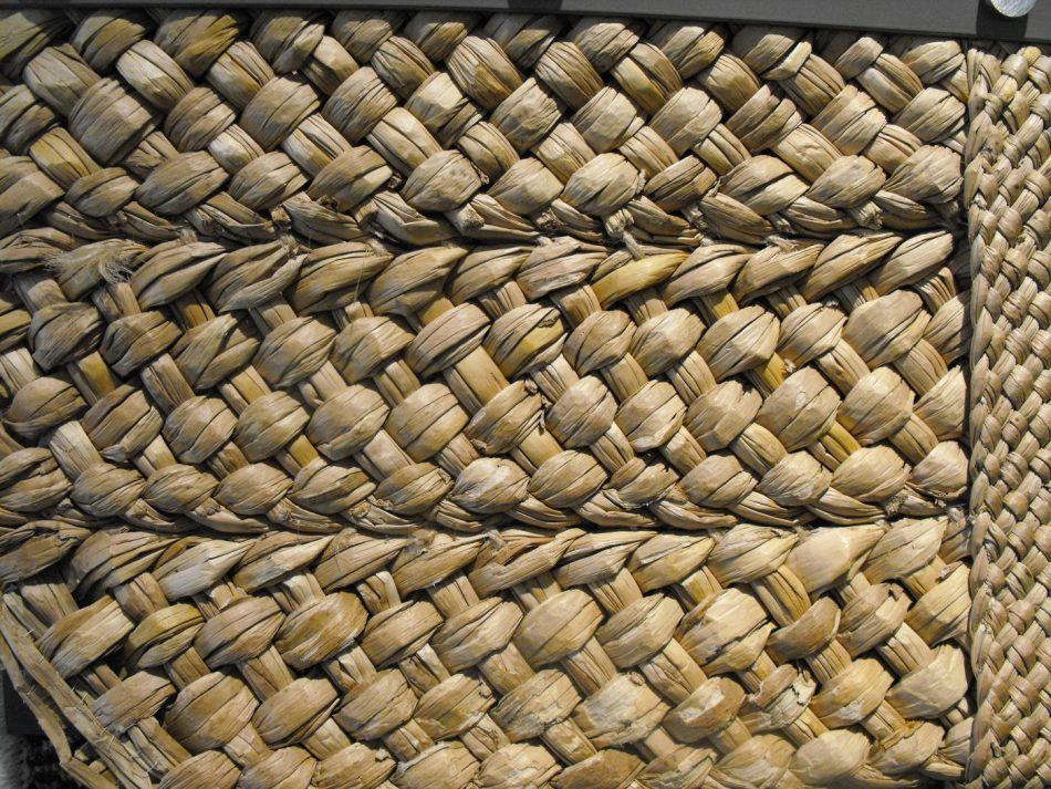Plaited rush or  straw matting was used as a floor covering.