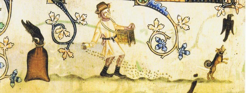 Sowing the seed from the Lutteral Psalter