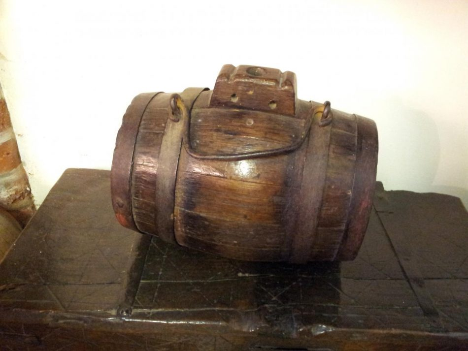 A small barrel.