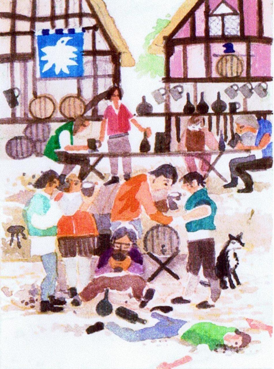 Six beershops were opened in the village