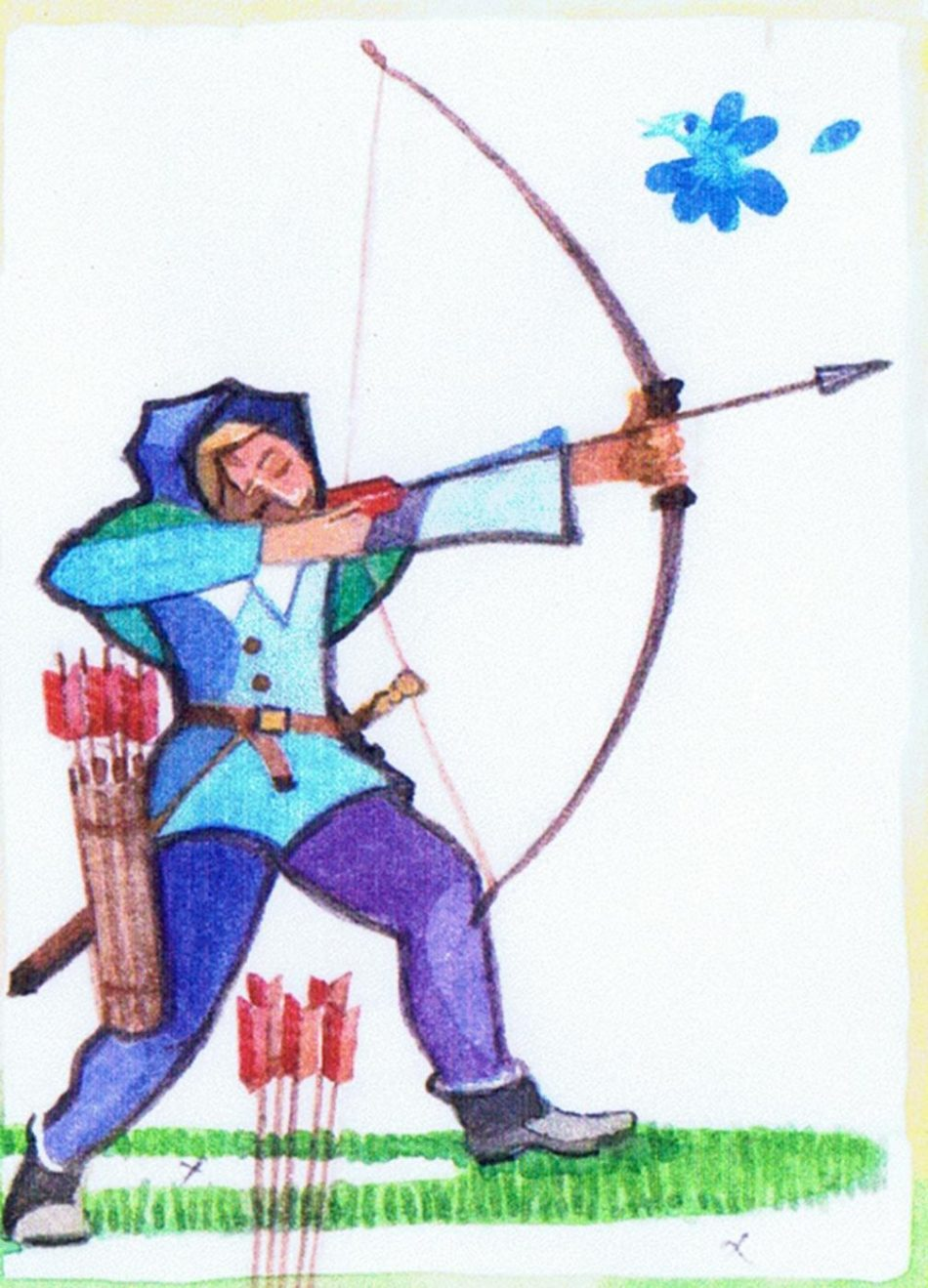 Archery practised on the butts